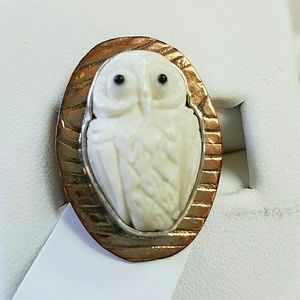 Amy Kahn Russell Ring Carved Owl 6